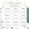 2021 salon marketing calendar at a glance page
