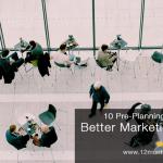 marketing event planning pre-event checklist