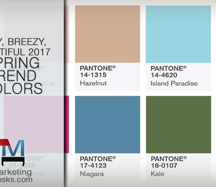Pantone 2017 Spring Trend Colors Palette
