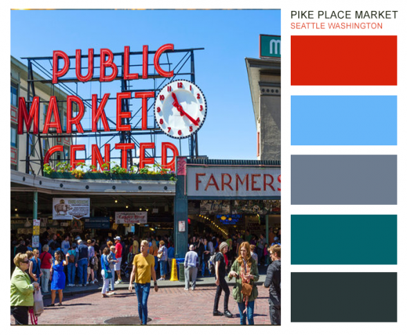 Pike Place Market brand color palettes ideas