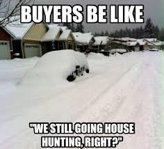 real estate memes - winter