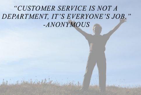 customer service is everyones job