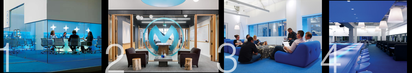 Using blue in the workplace