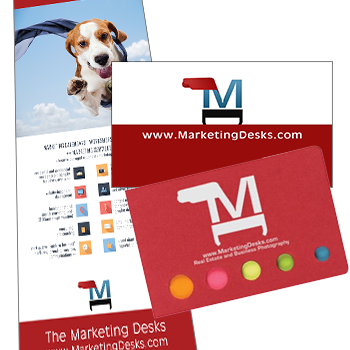 Print marketing collateral and branded promotional products