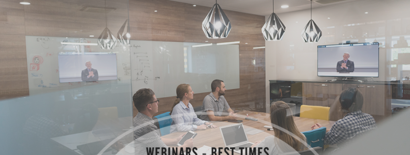 Business Webinars - Best Times, Webinar Platforms and Tools for Small Budgets