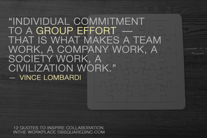 Vince Lombardi teamwork quotes