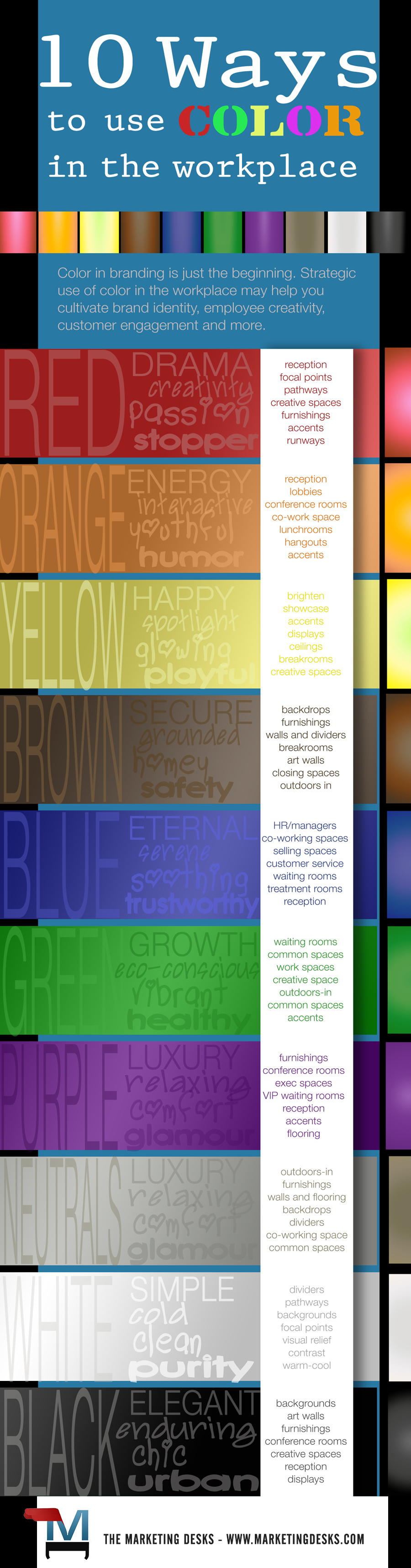 Color in the Workplace Infographic