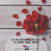 Set the customer love cycle to lather rinse repeat