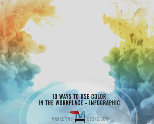 10 ways to use color in the workplace - infographic